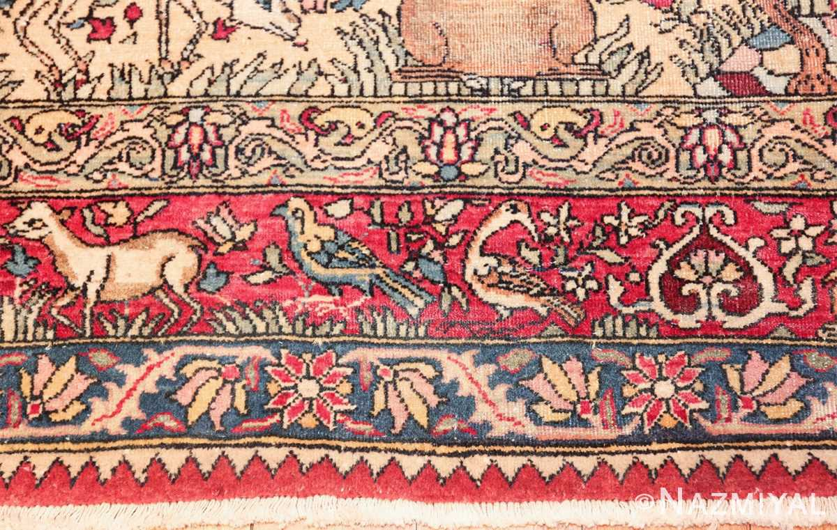 mythical antique tree of life design persian tehran rug 49197 outer Nazmiyal