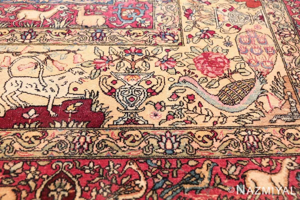 mythical antique tree of life design persian tehran rug 49197 peacock Nazmiyal