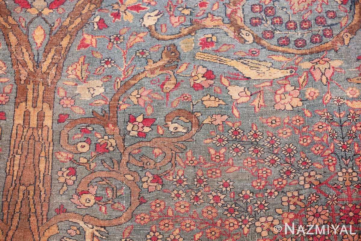 mythical antique tree of life design persian tehran rug 49197 snake Nazmiyal