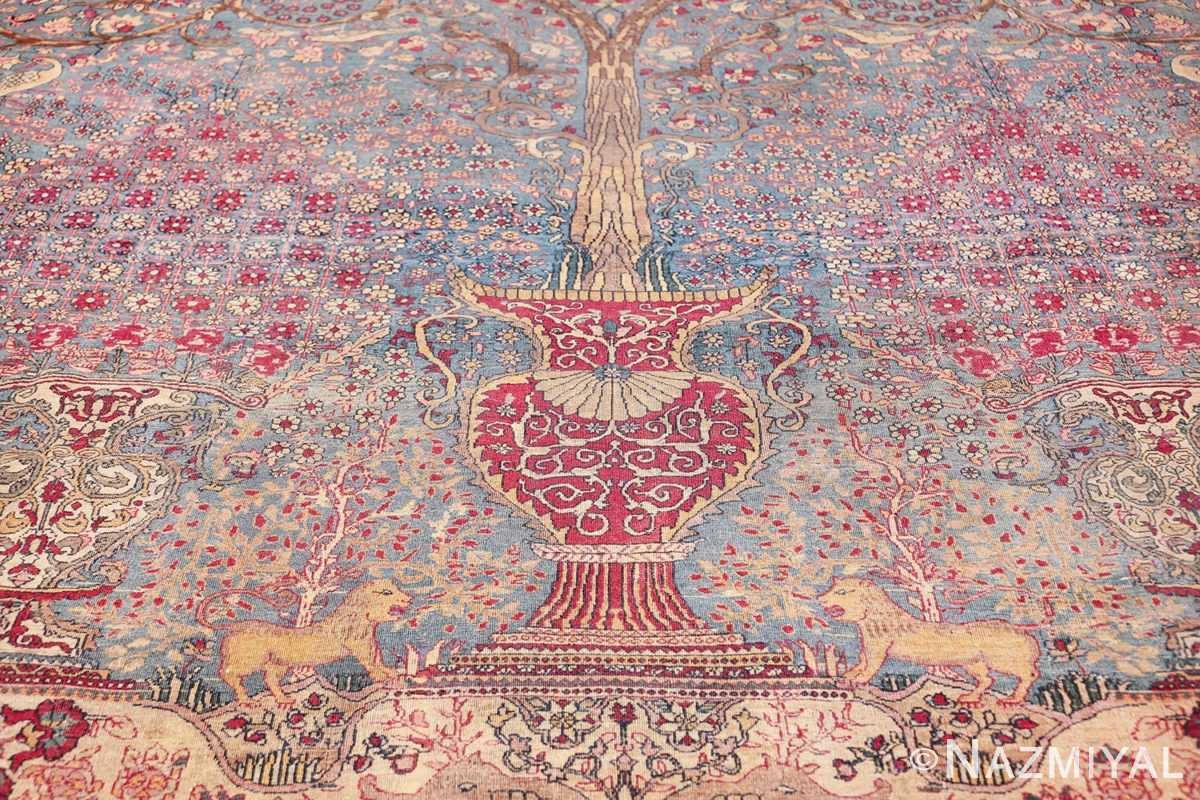mythical antique tree of life design persian tehran rug 49197 vase Nazmiyal