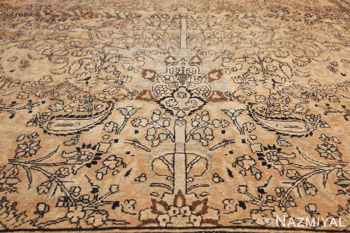 oversize neutral earth tone color persian khorassan rug 49427 base Nazmiyal