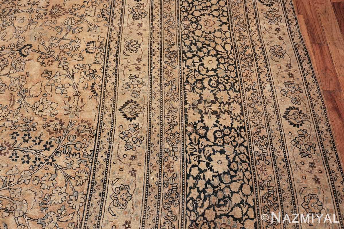 oversize neutral earth tone color persian khorassan rug 49427 border Nazmiyal