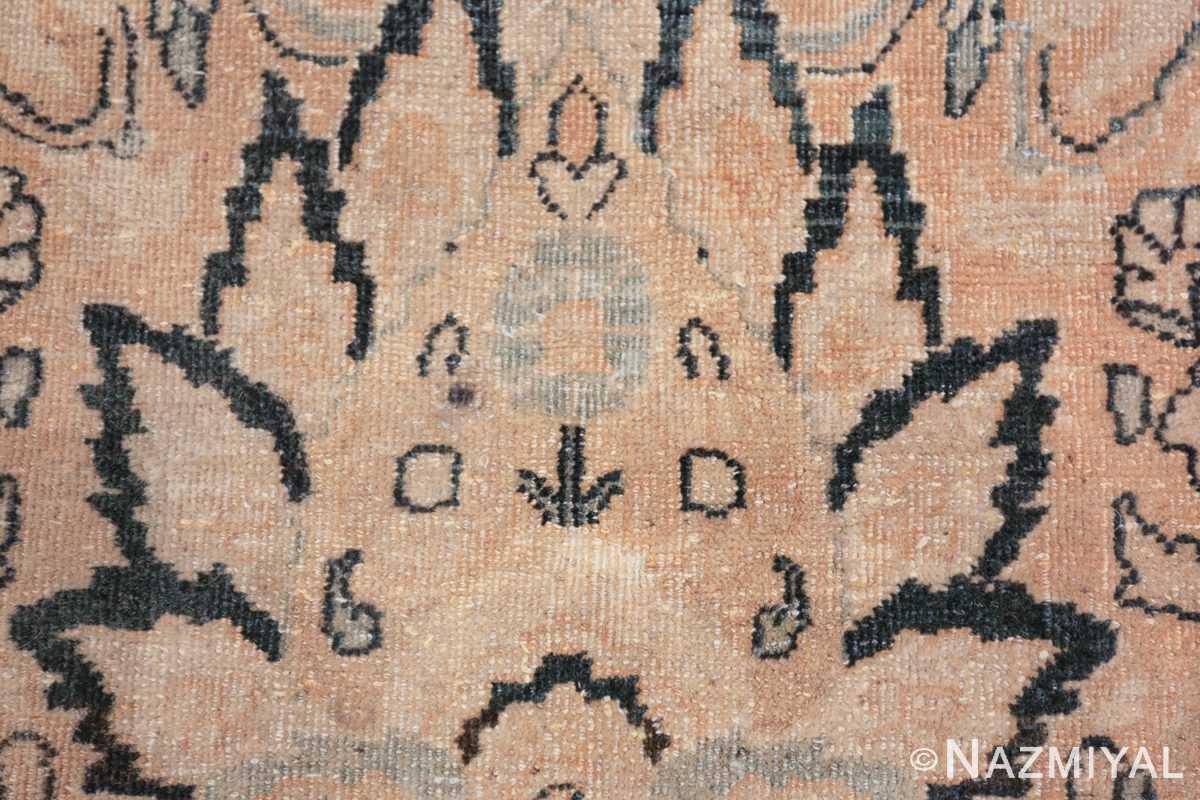 oversize neutral earth tone color persian khorassan rug 49427 closeup Nazmiyal