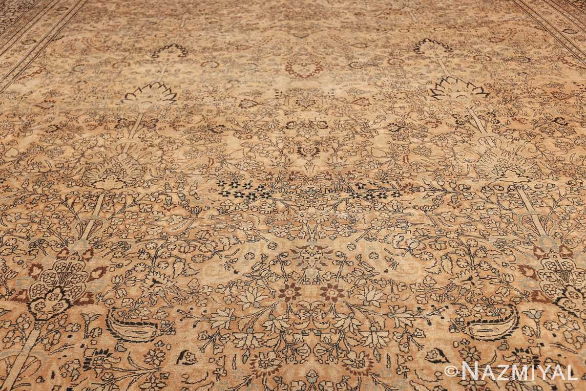 oversize neutral earth tone color persian khorassan rug 49427 field Nazmiyal