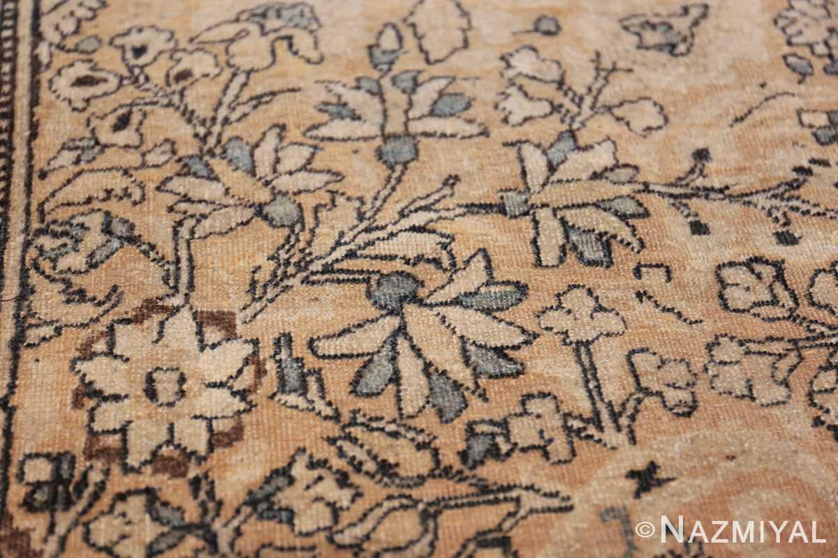 oversize neutral earth tone color persian khorassan rug 49427 flower Nazmiyal