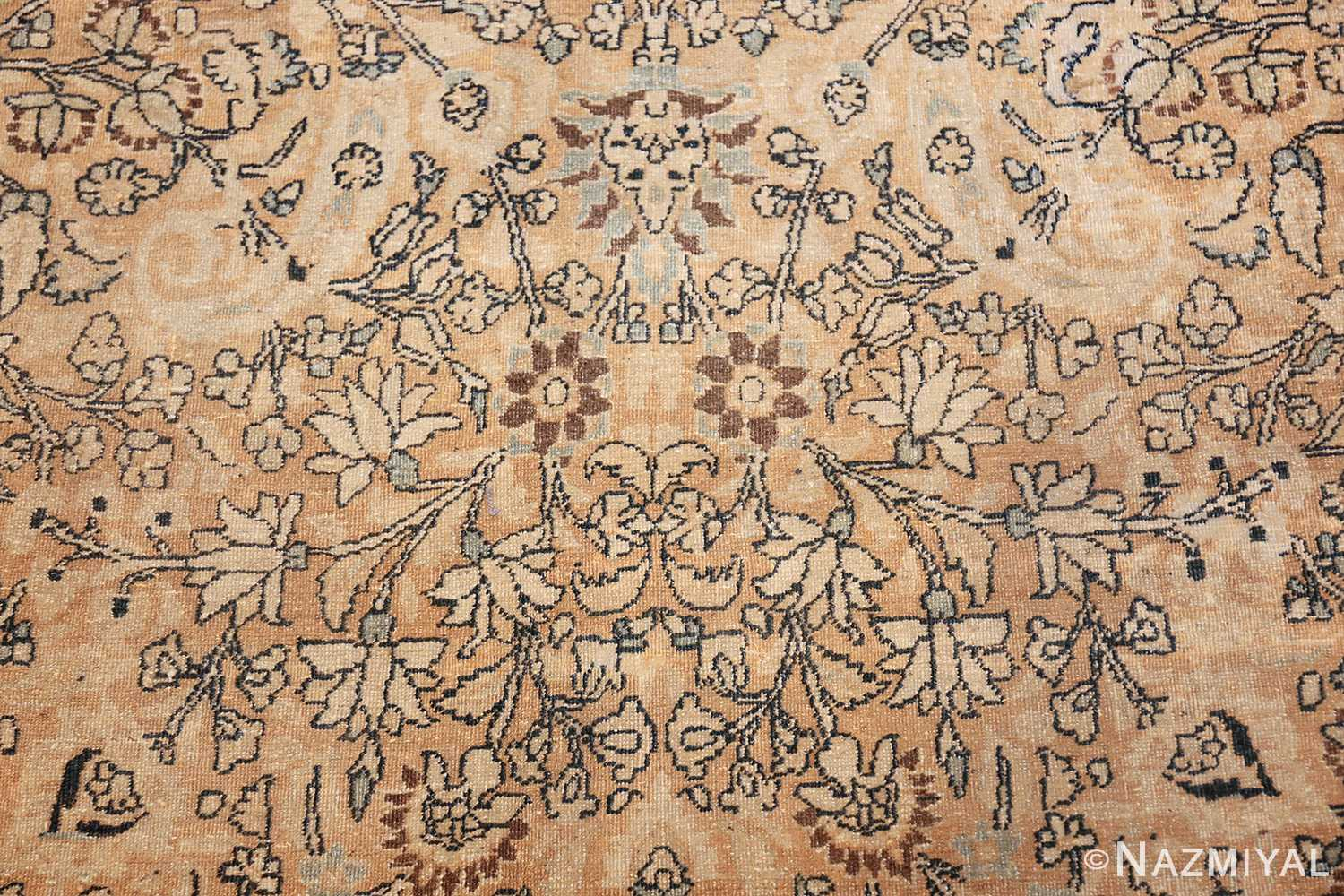 oversize neutral earth tone color persian khorassan rug 49427 ivory Nazmiyal