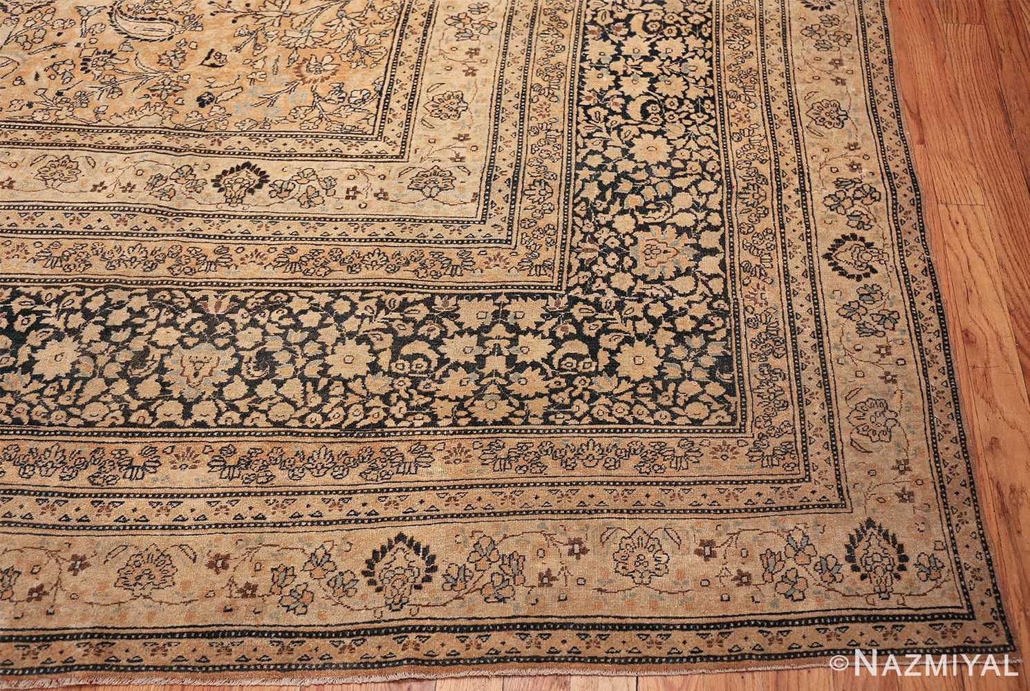 oversize neutral earth tone color persian khorassan rug 49427 part Nazmiyal