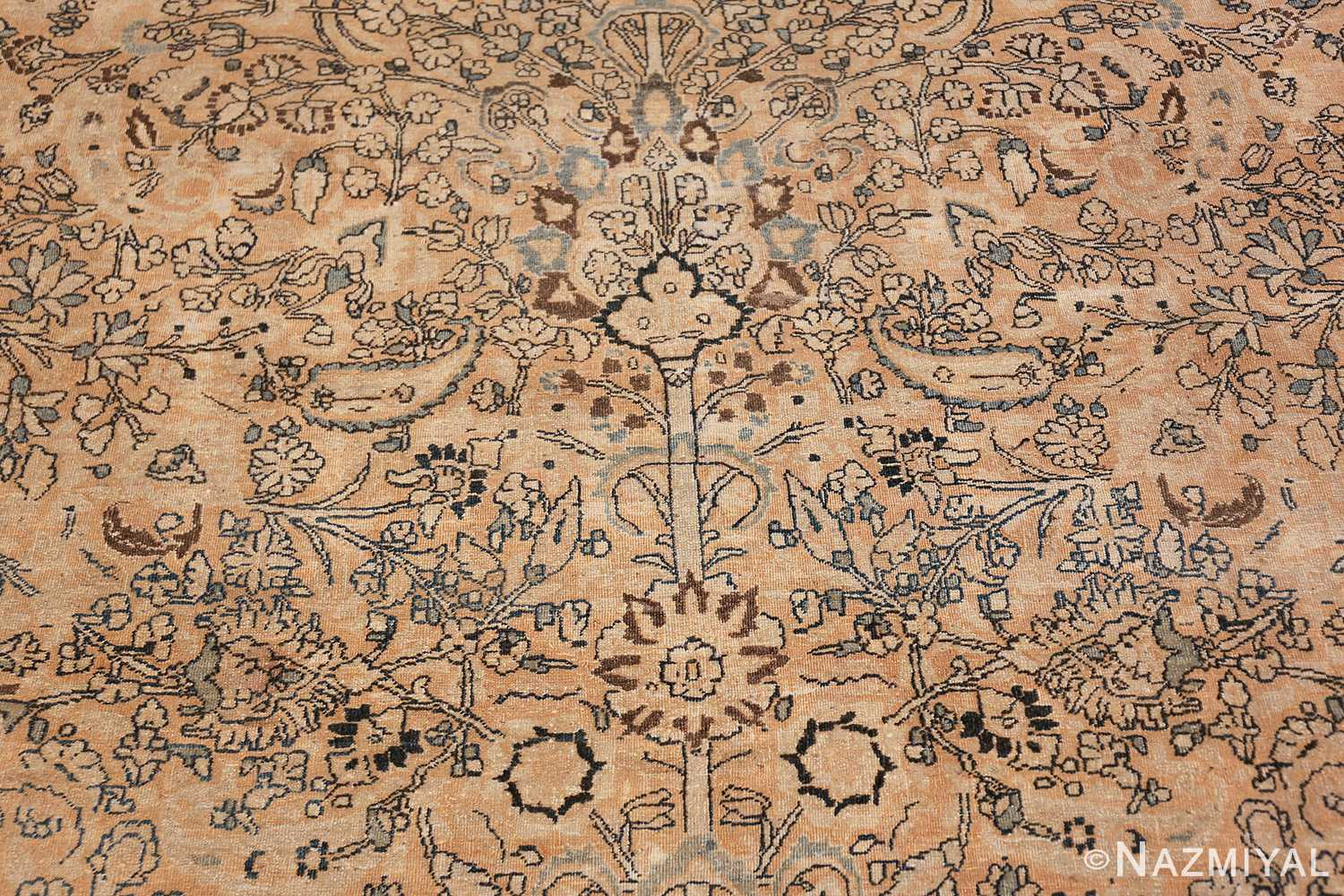 oversize neutral earth tone color persian khorassan rug 49427 tree Nazmiyal
