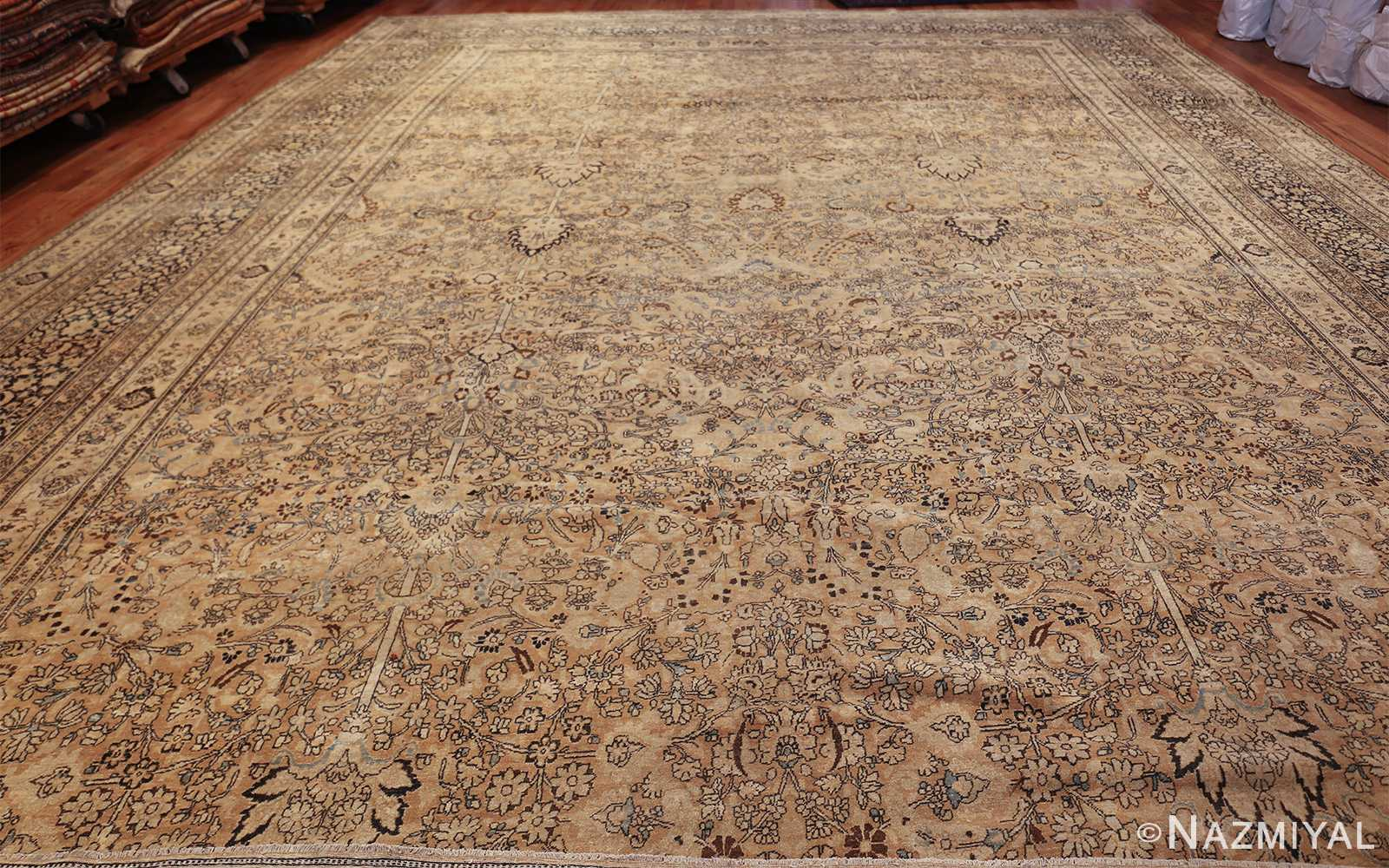 oversize neutral earth tone color persian khorassan rug 49427 whole Nazmiyal