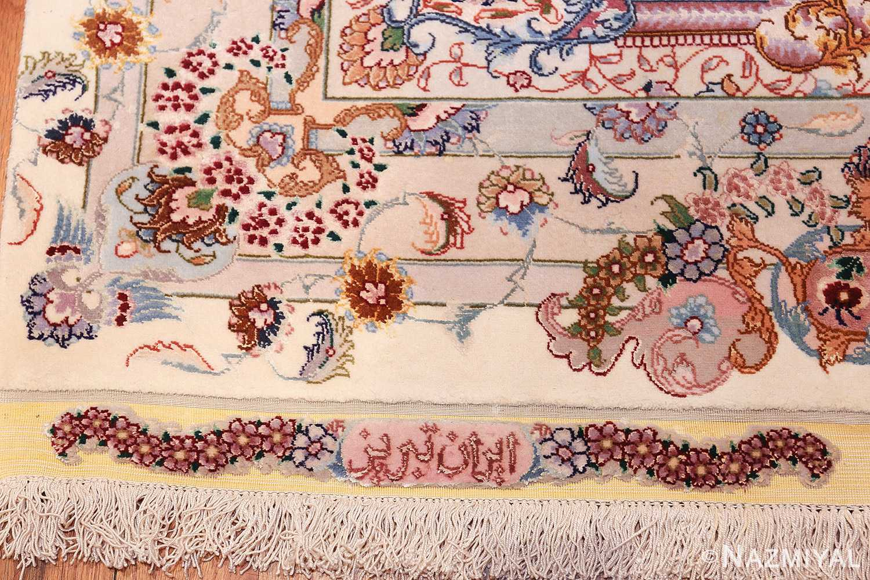 oversize silk and wool vintage persian tabriz rug 60024 country Nazmiyal
