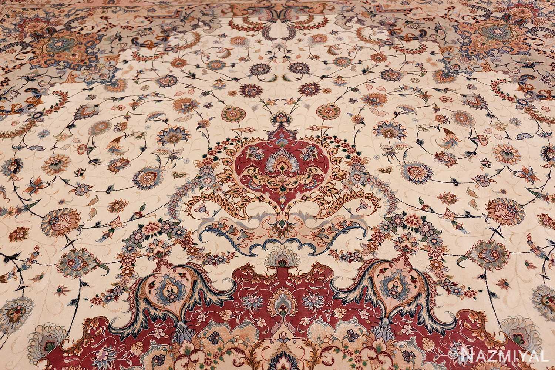 oversize silk and wool vintage persian tabriz rug 60024 design Nazmiyal