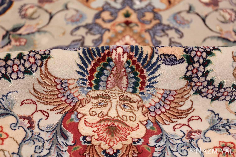 oversize silk and wool vintage persian tabriz rug 60024 pile Nazmiyal