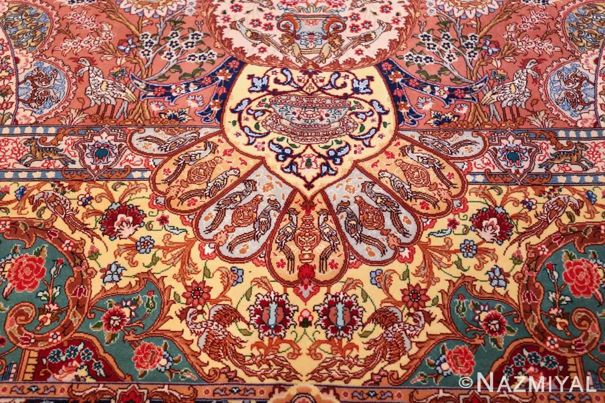silk and wool large geomteric vintage tabriz persian rug 60033 groups Nazmiyal