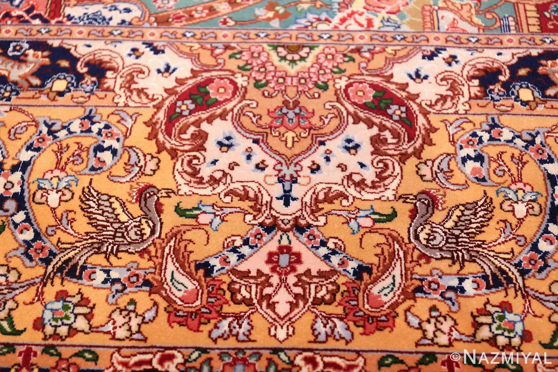 Large Vintage Silk And Wool Persian Tabriz Rug 60033 Nazmiyal