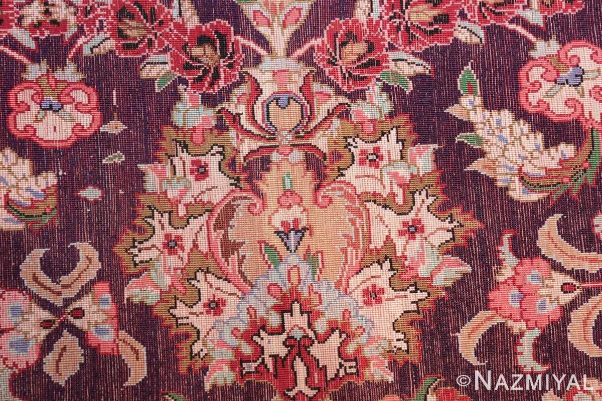 large silk vintage qum persian rug 60022 knots Nazmiyal