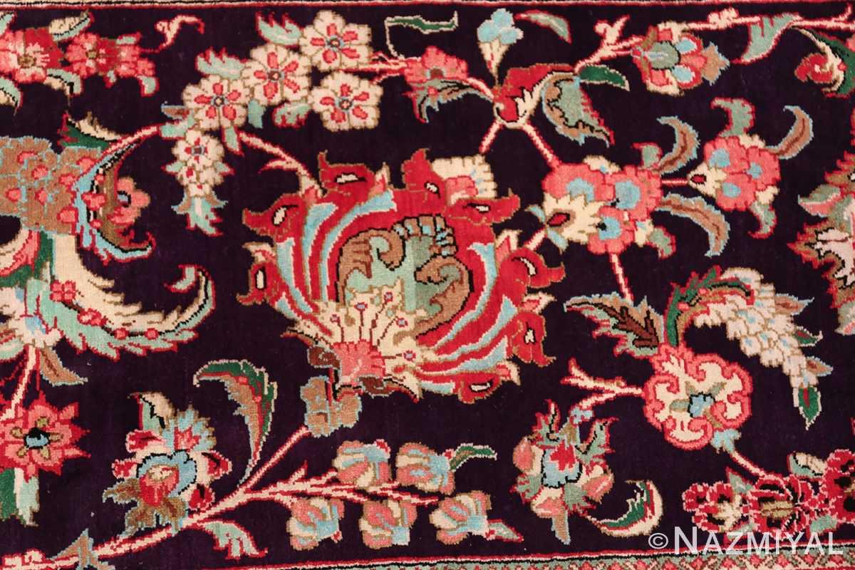 large silk vintage qum persian rug 60022 rose Nazmiyal