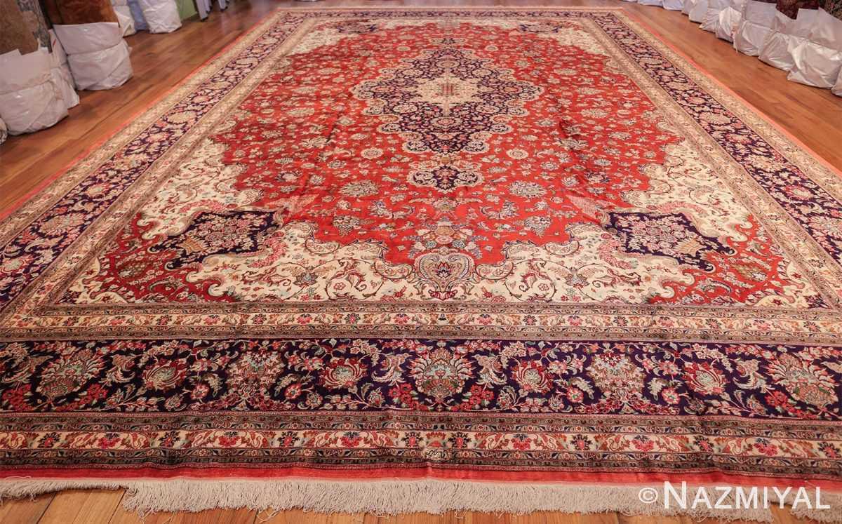 large silk vintage qum persian rug 60022 whole Nazmiyal