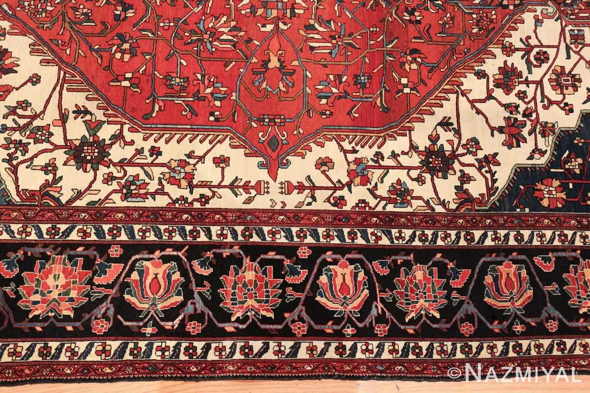 small size fine antique persian sarouk farahan rug 49673 border Nazmiyal