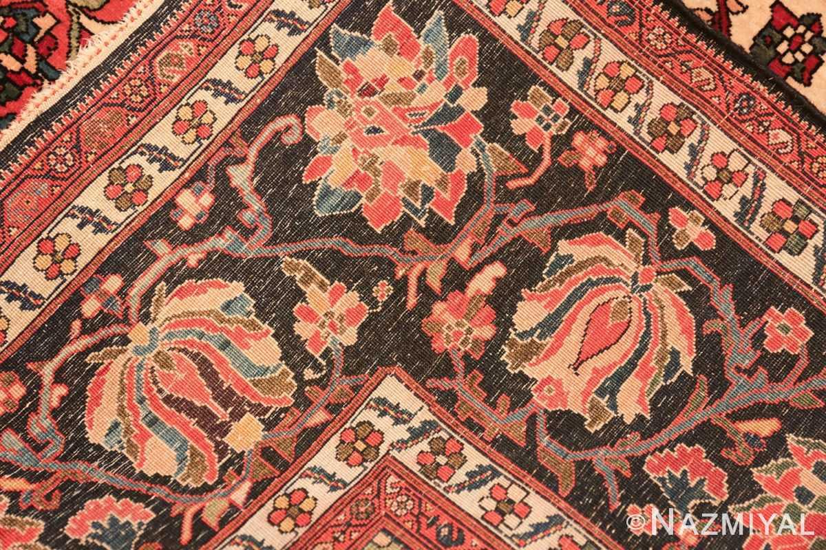small size fine antique persian sarouk farahan rug 49673 knots Nazmiyal