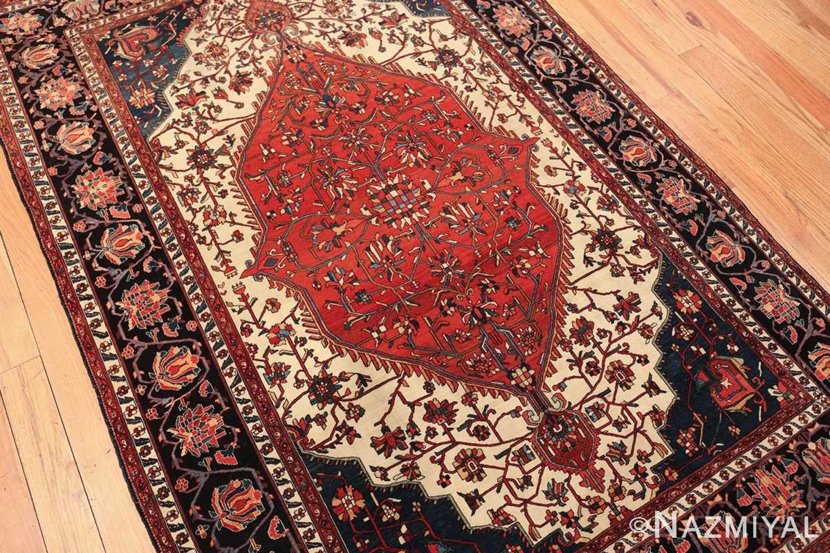 small size fine antique persian sarouk farahan rug 49673 side Nazmiyal