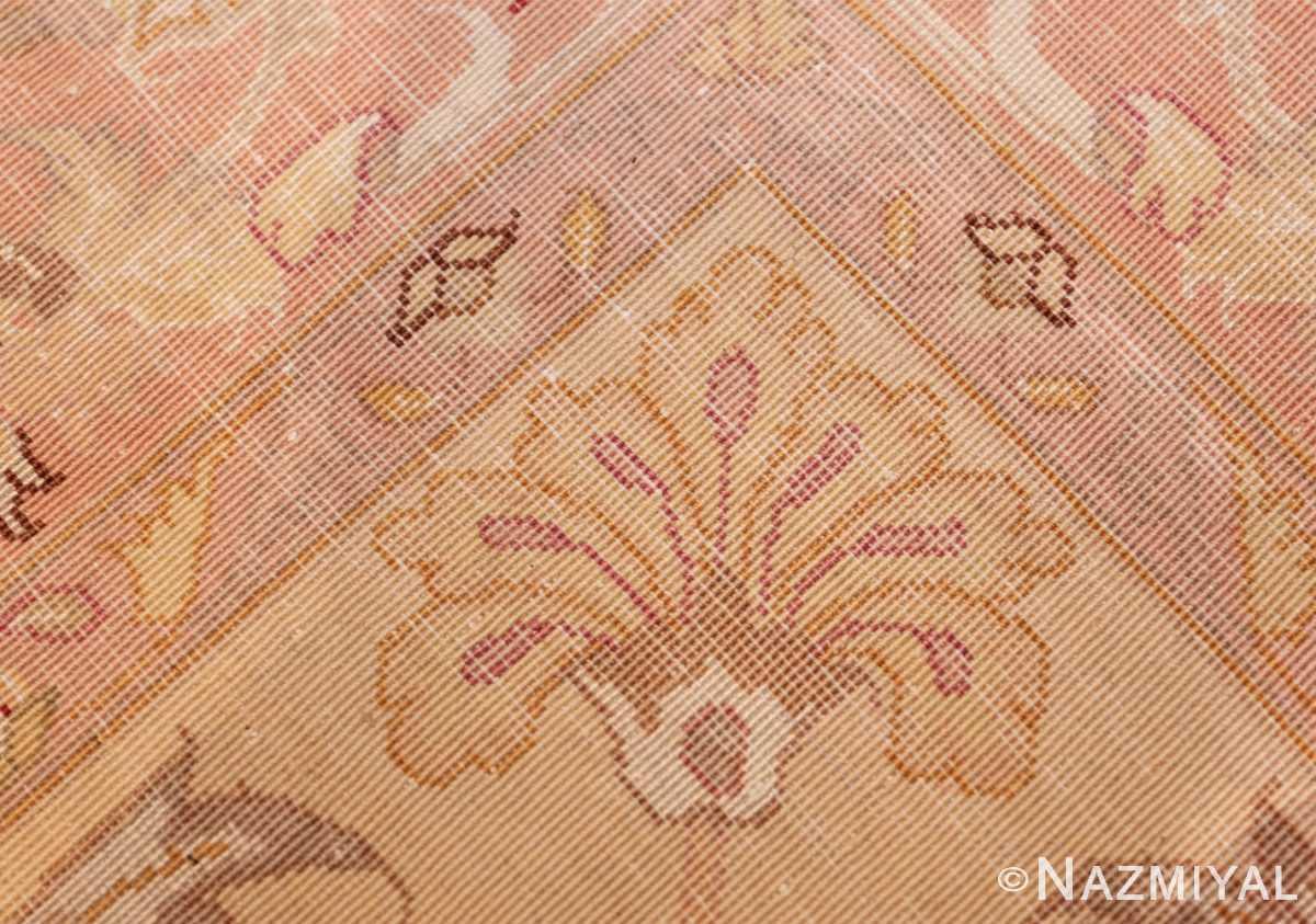 square silk and wool vintage tabriz persian rug 60026 knots Nazmiyal