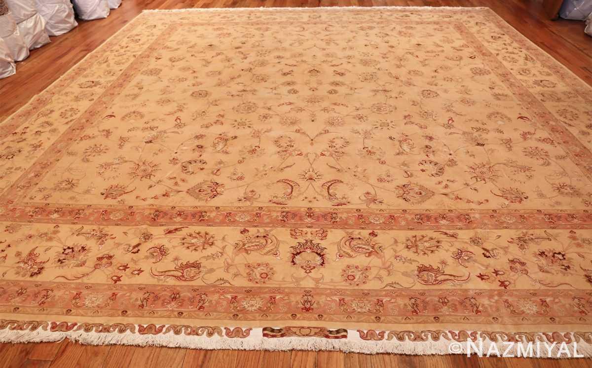 square silk and wool vintage tabriz persian rug 60026 whole Nazmiyal