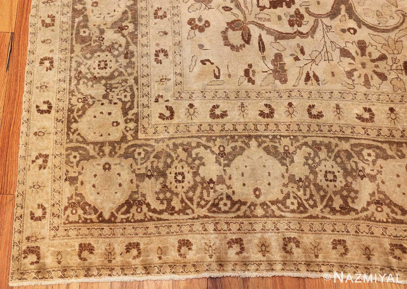vase design antique persian tabriz rug 50445 corner Nazmiyal