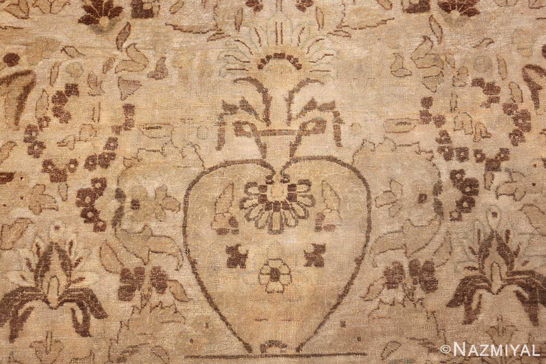vase design antique persian tabriz rug 50445 flower Nazmiyal