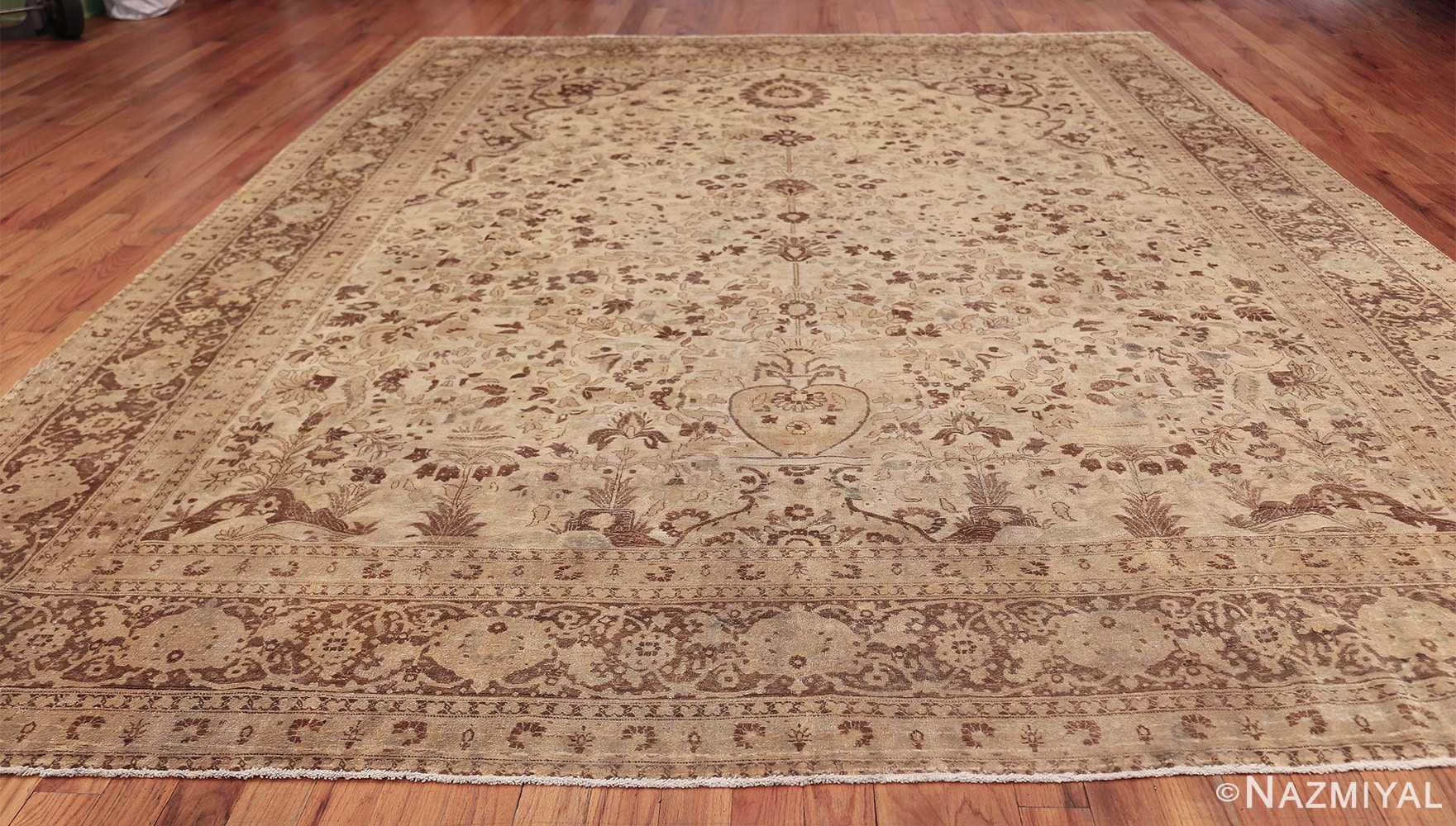 vase design antique persian tabriz rug 50445 whole Nazmiyal