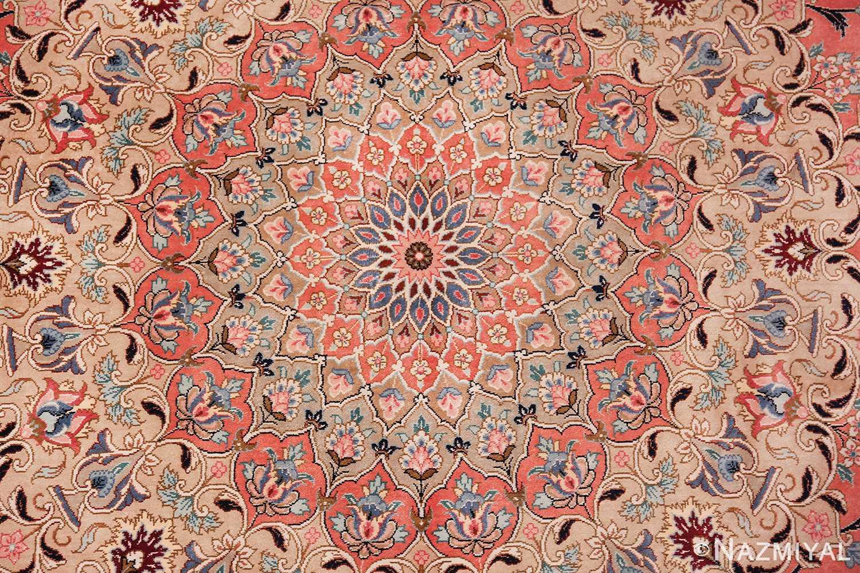 vintage large oversized persian silk qum rug 60037 center Nazmiyal