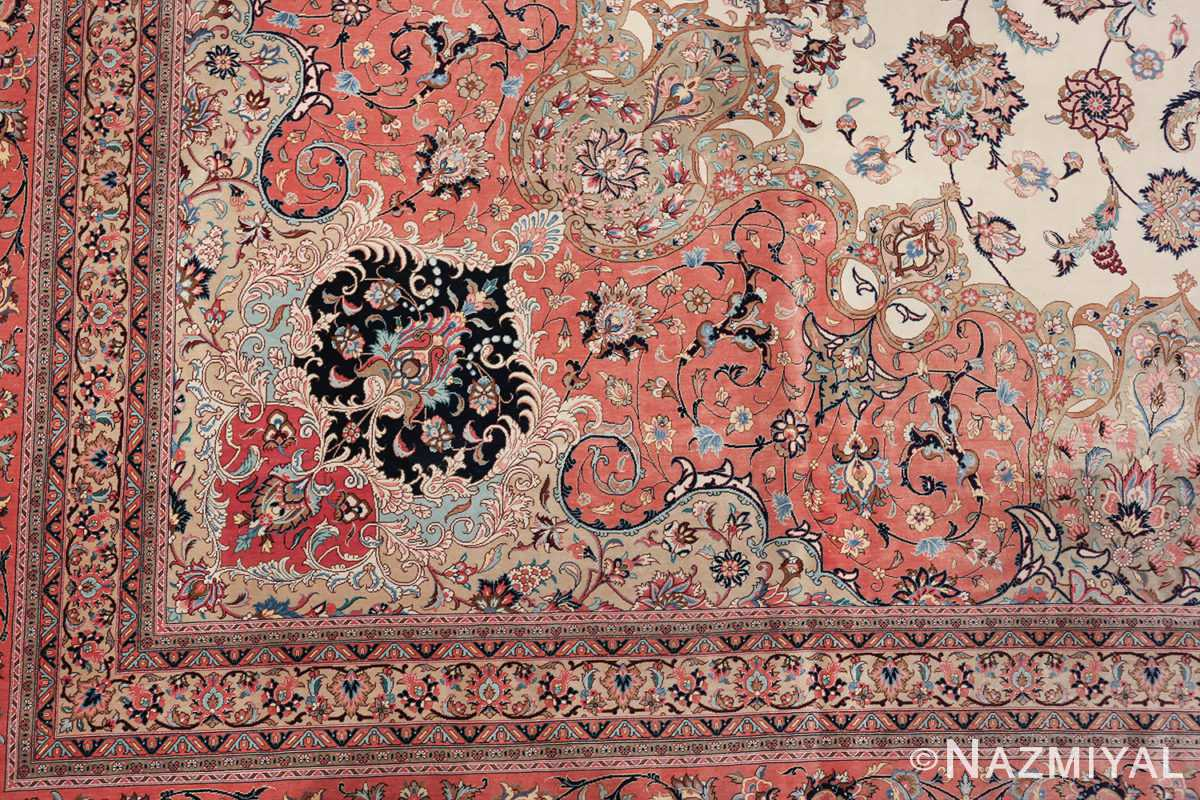vintage large oversized persian silk qum rug 60037 design Nazmiyal