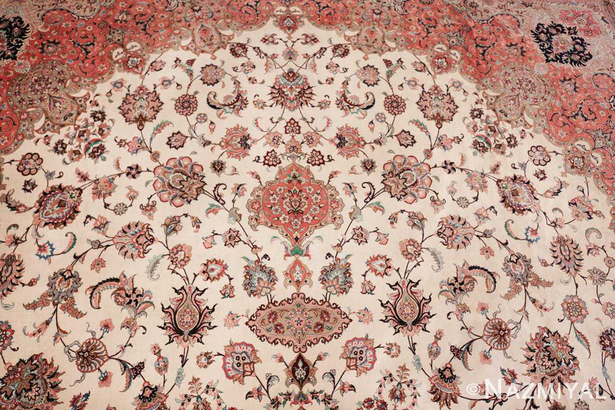 vintage large oversized persian silk qum rug 60037 top Nazmiyal