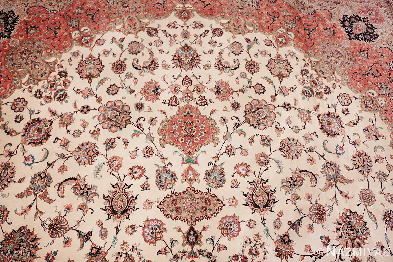 vintage large oversized persian silk qum rug 60037 top Nazmiyal