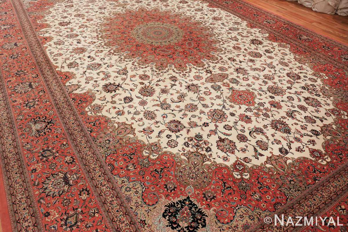 vintage large oversized persian silk qum rug 60037 whole Nazmiyal