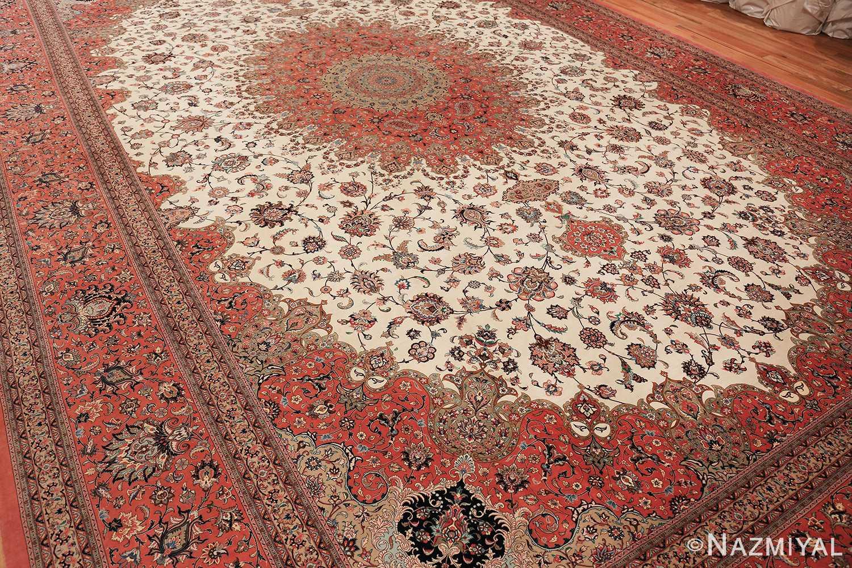 vintage large oversized persian silk qum rug 60037 whole Nazmiyal