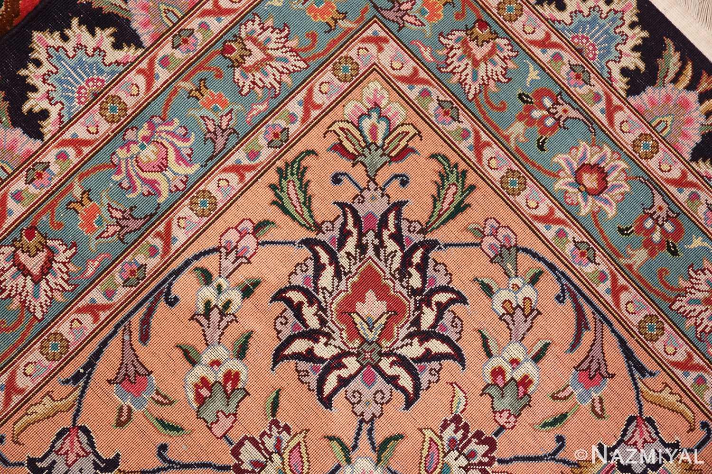 vintage large wool and silk persian tabriz rug 60044 knots Nazmiyal