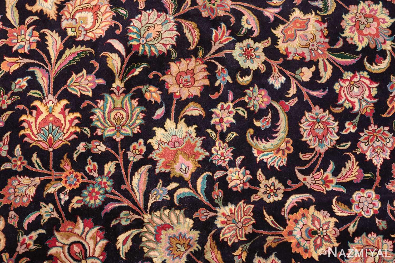 vintage large wool and silk persian tabriz rug 60044 navy Nazmiyal