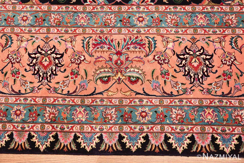 vintage large wool and silk persian tabriz rug 60044 plant Nazmiyal