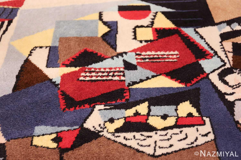 vintage pablo picasso scandinavian rug 49683 blue Nazmiyal