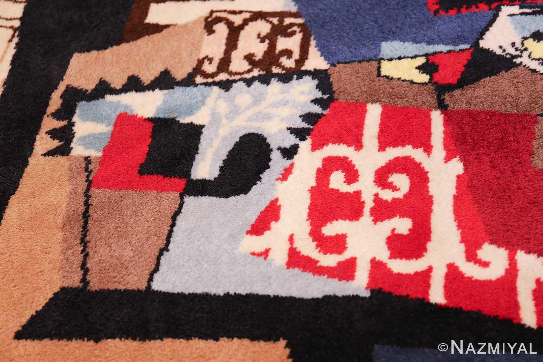 vintage pablo picasso scandinavian rug 49683 cage Nazmiyal