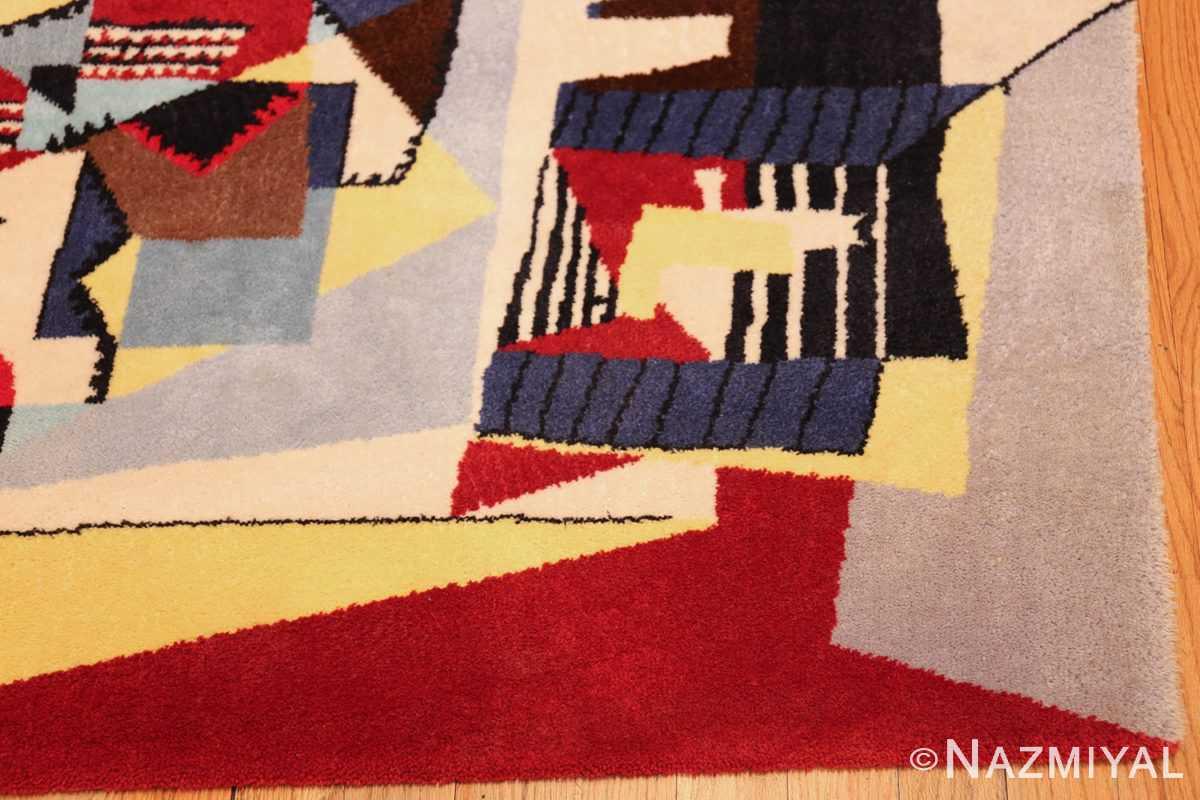 vintage pablo picasso scandinavian rug 49683 corner Nazmiyal