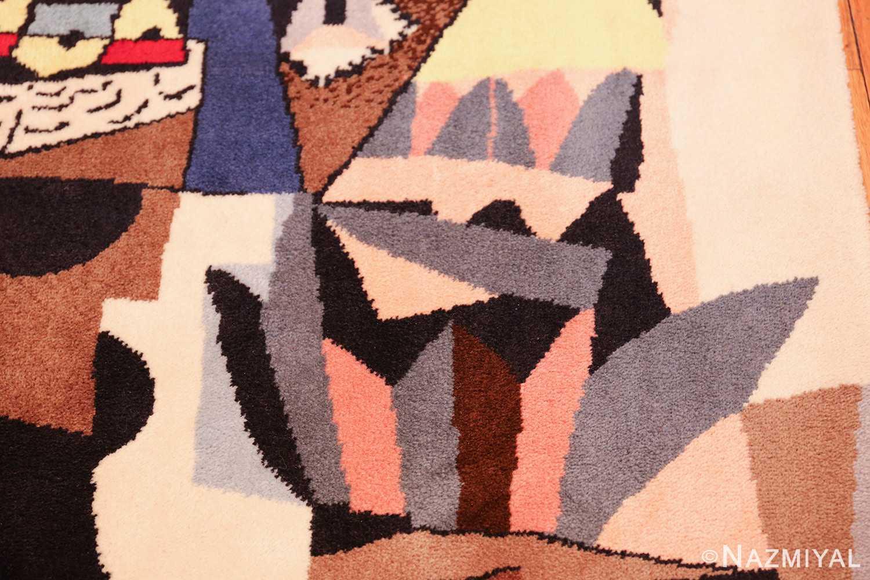 vintage pablo picasso scandinavian rug 49683 hand Nazmiyal