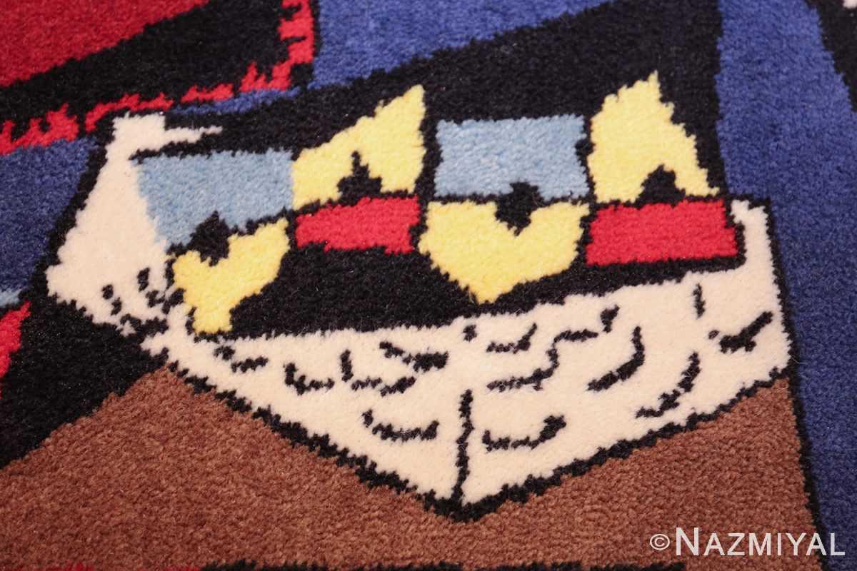 vintage pablo picasso scandinavian rug 49683 house Nazmiyal