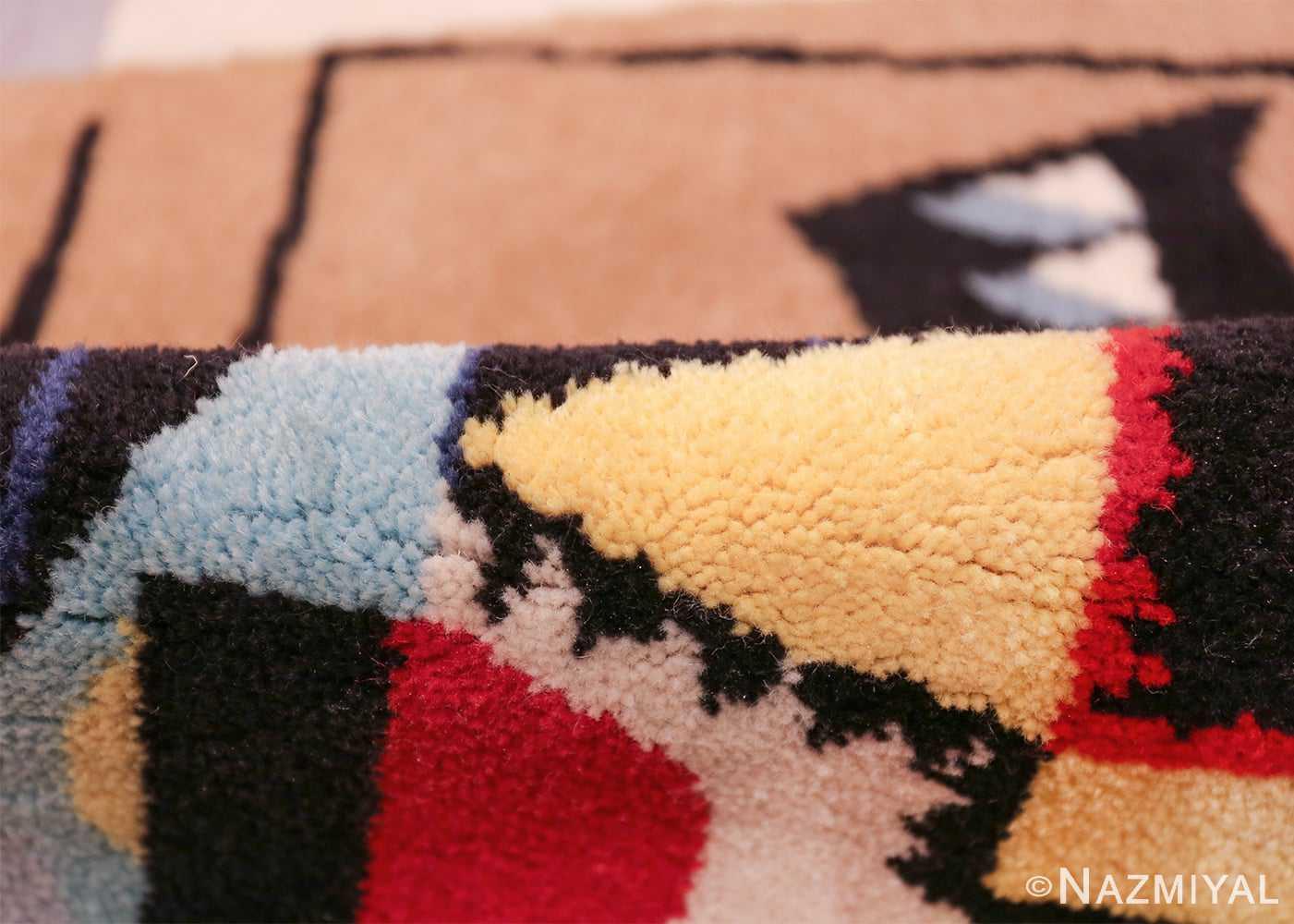 vintage pablo picasso scandinavian rug 49683 pile Nazmiyal