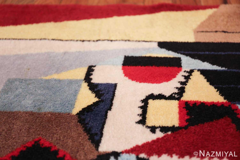 vintage pablo picasso scandinavian rug 49683 round Nazmiyal