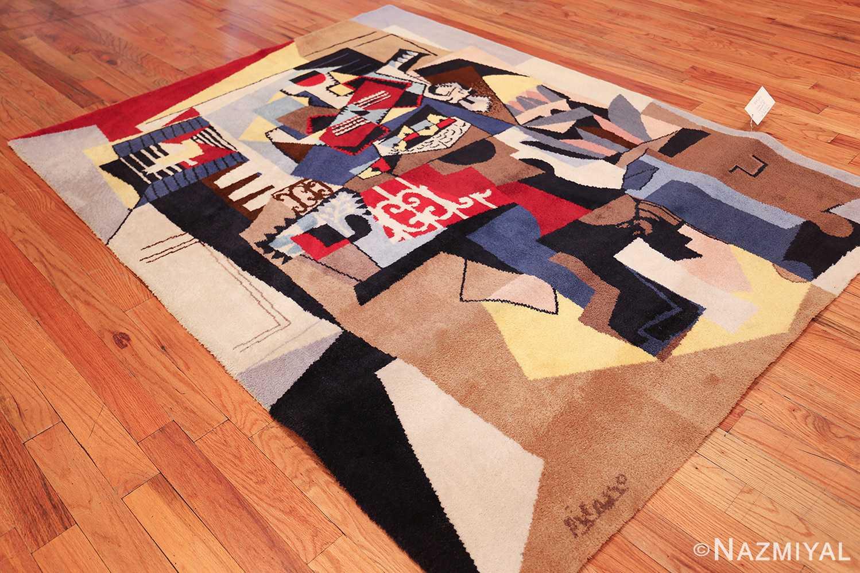 vintage pablo picasso scandinavian rug 49683 side Nazmiyal