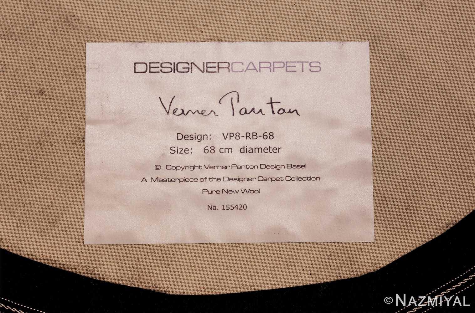 vintage round scandinavian verner panton polka dot rug 49684 tag Nazmiyal