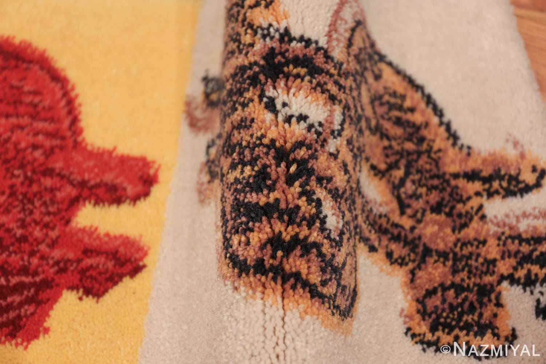 vintage scandinavian andy warhol dollar sign art rug 49671 pile Nazmiyal
