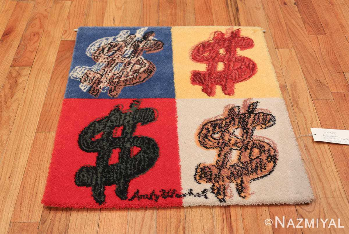 vintage scandinavian andy warhol dollar sign art rug 49671 whole Nazmiyal