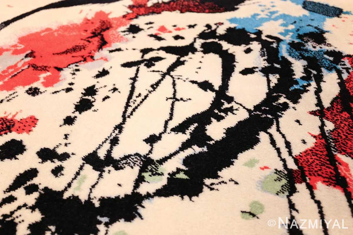 vintage scandinavian ege art line robert jacobsen rug 49670 face Nazmiyal